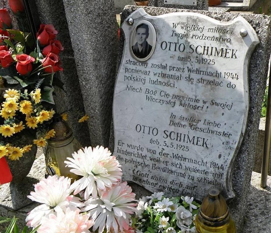 Grób Otto Schimka na machowskim cmentarzu