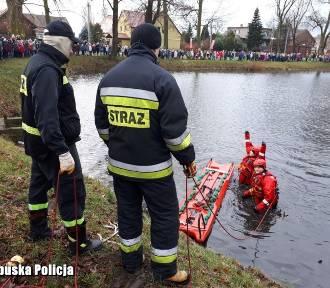 Wschowa: Profesjonalna akcja ratownicza służb. Przyglądali się jej uczniowie ze szkół podstawowych
