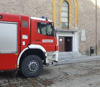 Pożar w kościele w centrum Wałbrzycha przerwał mszę świętą [22.11.2020]