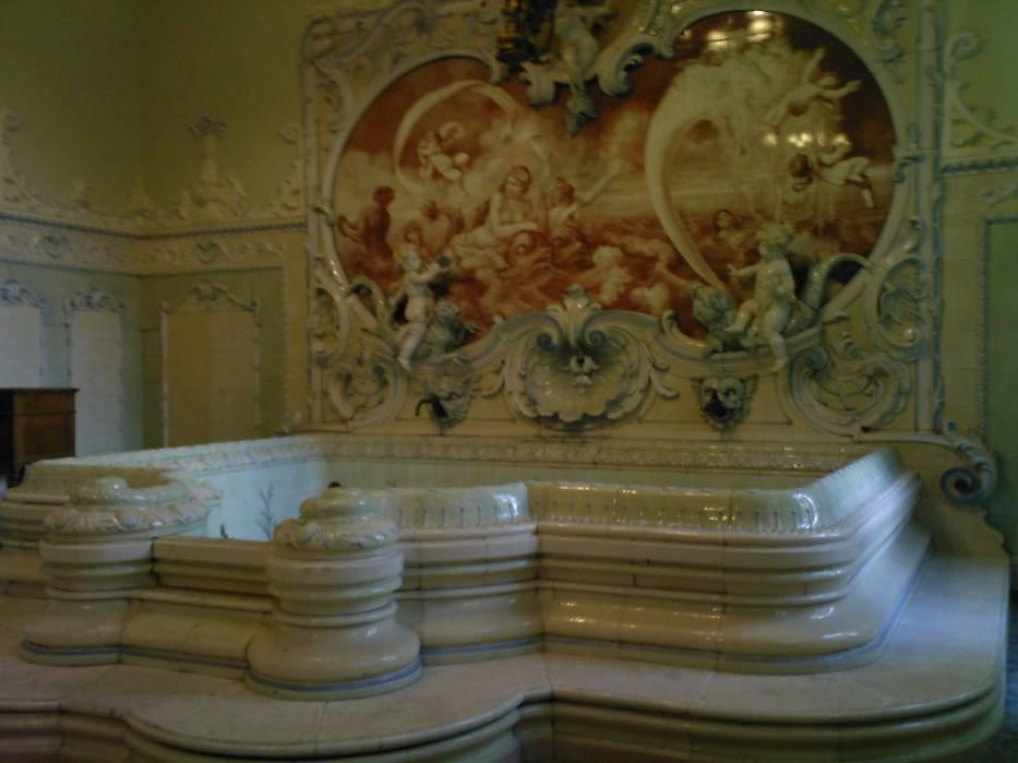 Pokój łazienkowy w Pałacu Dietla