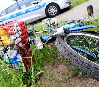 Ciężarówka potraciła rowerzystkę. Kobieta trafiła do szpitala