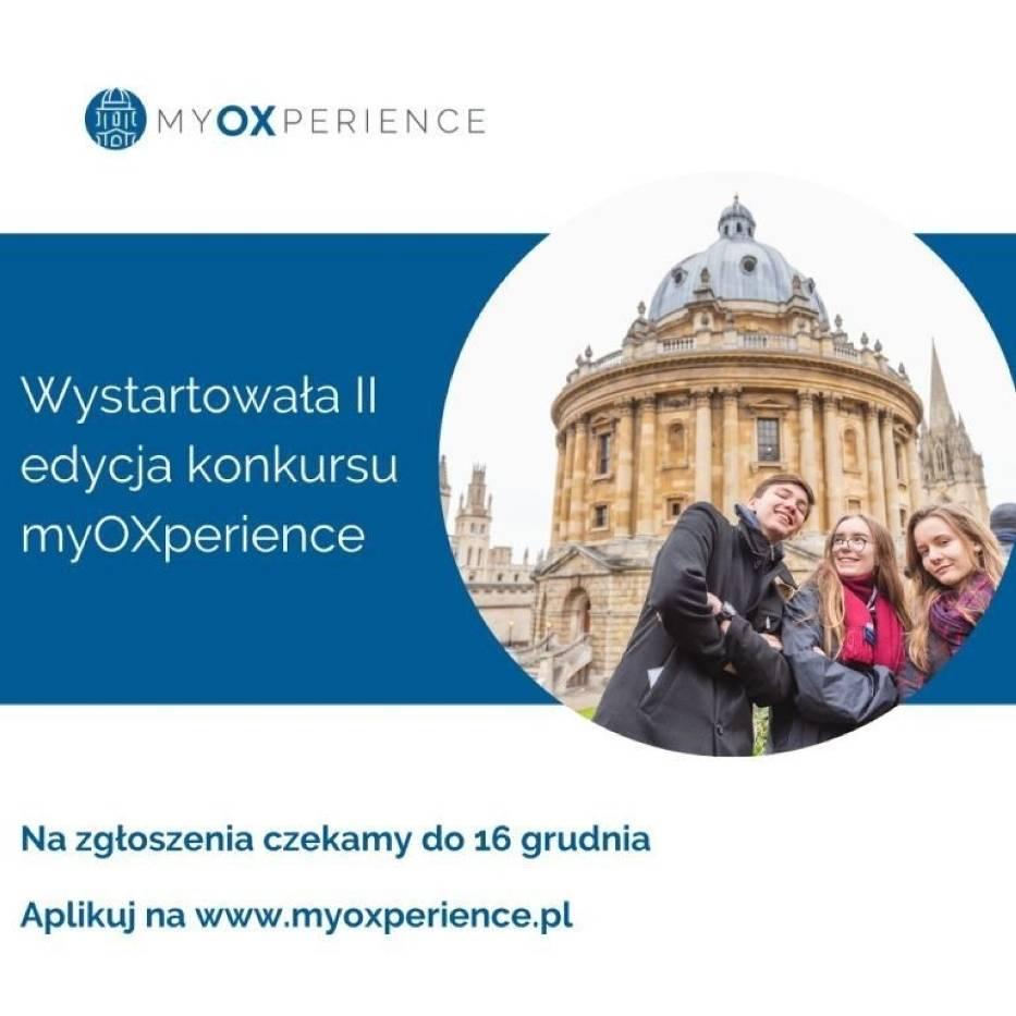 Konkurs myOXperience: Studiuj na Oksfordzie