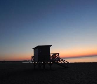 Błękitna godzina i malowniczy zachód słońca w Ustce [ZDJĘCIA]