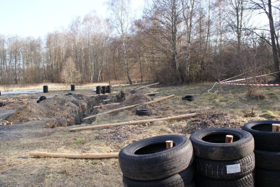 Budowa drugiego pola do gry w paintball w Rzewnicy