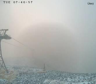 Pierwszy śnieg pojawił się w Karkonoszach. Minusowa temperatura i pokrywa 2 cm