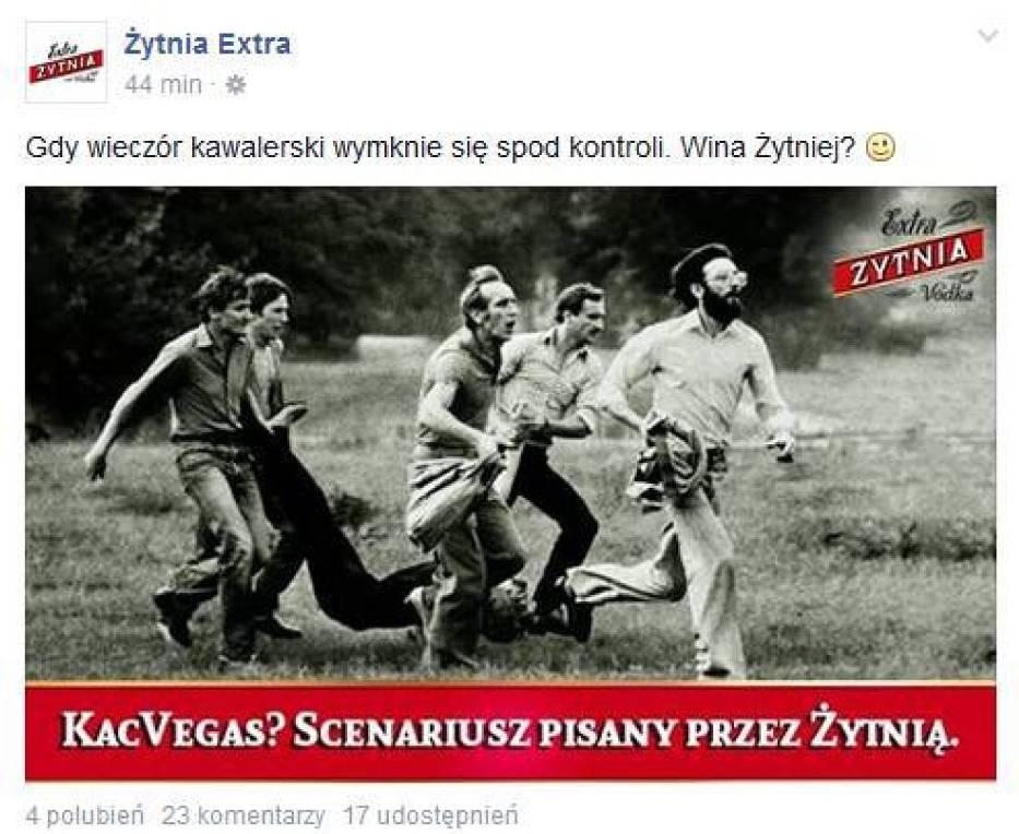 Zdjęcie ze Zbrodni Lubińskiej w reklamie wódki