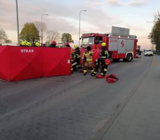 Strażacy z OSP Banino ratowali życie motocykliście. Nie udało się