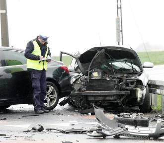 Wypadek na drodze Legnica - Złotoryja [ZDJĘCIA]
