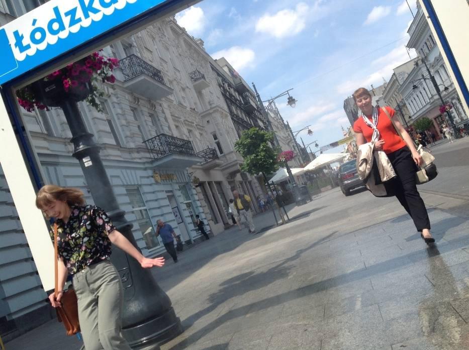 Kurtyna wodna na Piotrkowskiej