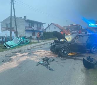 Zderzenie dwóch pojazdów w Grabownie Małym