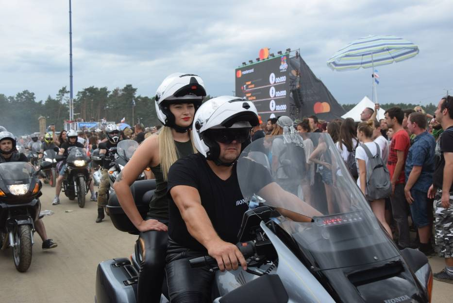 Parada motocyklowa na Woodstocku
