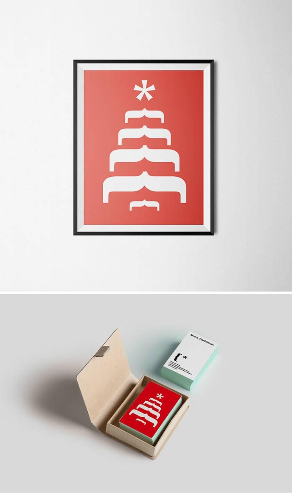 Kreatywne świąteczne plakaty. Mało znaków, dużo treści [ZDJĘCIA]