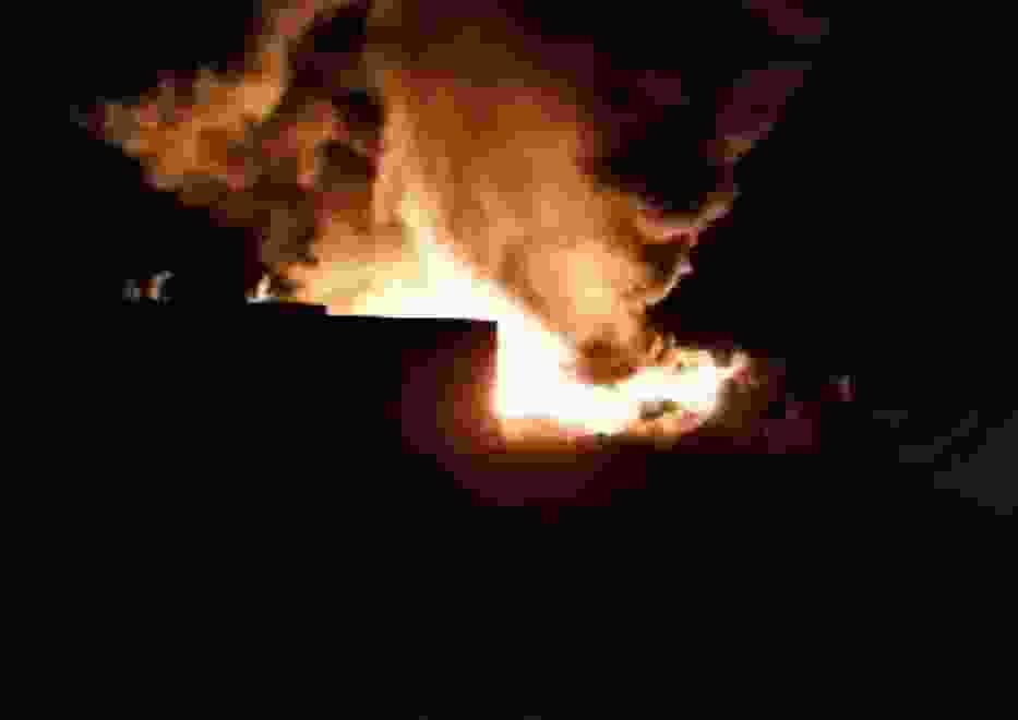 Wielki pożar składowiska odpadów w centrum Kuślina