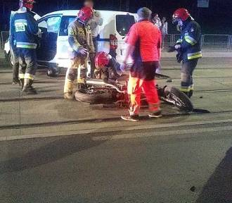 Poważny wypadek z udziałem motocyklisty [ZDJĘCIA]