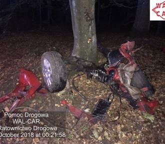 Tragiczny wypadek w Blachowni. Samochód uderzył w drzewo, 39-latek zginął na miejscu