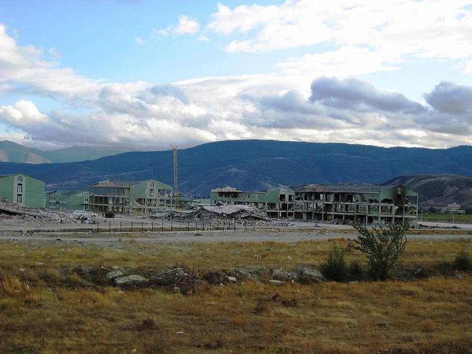 Baza wojskowa w Gori stała się jednym z pierwszych colów rosyjskich bombowców