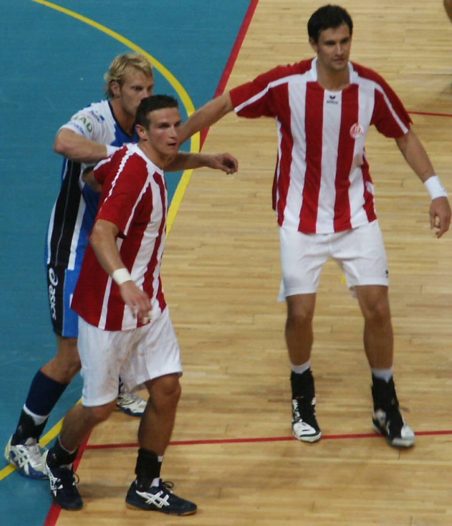 Marcin Lijewski(po prawej) i Bartłomiej Jaszka(z przodu) znowu w barwach Ostrovi