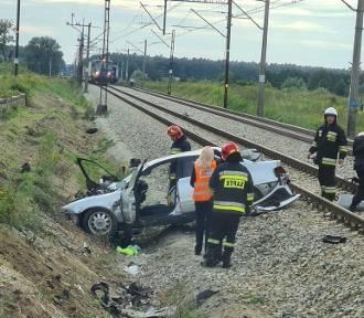 Wielkie Rychnowo. Wypadek na przejeździe kolejowym. Ranna kobieta