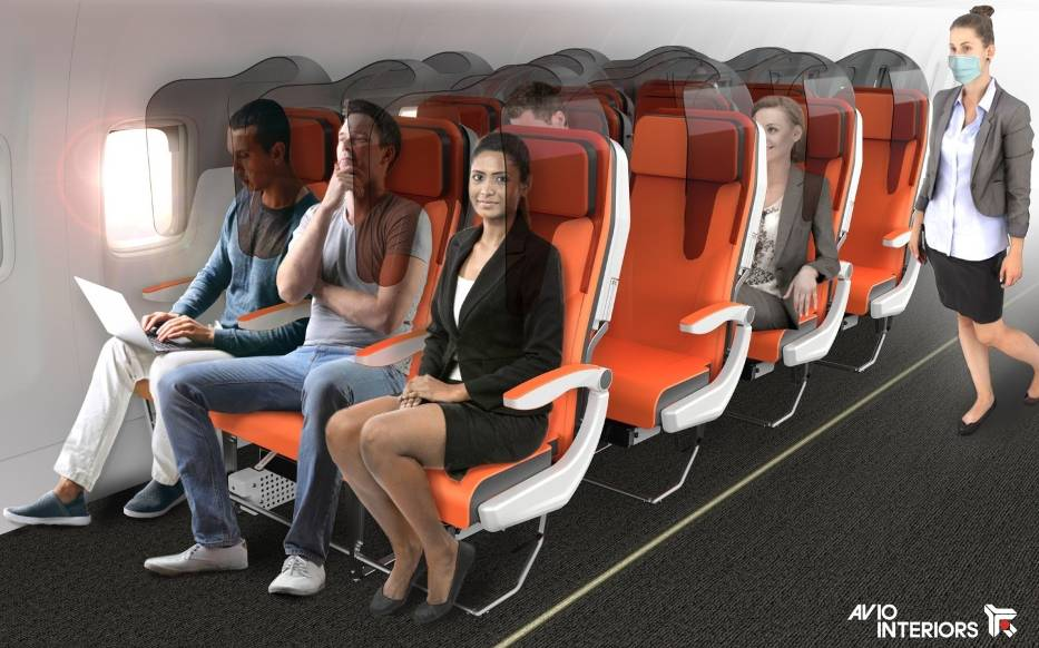 Sterylny samolot w dobie koronawirusa? Włoska firma projektuje bezpieczne fotele