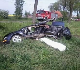 Śmiertelny wypadek w gminie Nowy Staw. 37-letni kierowca zginął po uderzeniu w drzewo