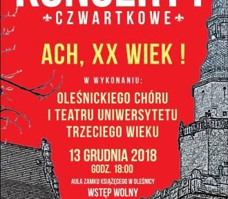 Koncert z udziałem UTW już w czwartek w zamku