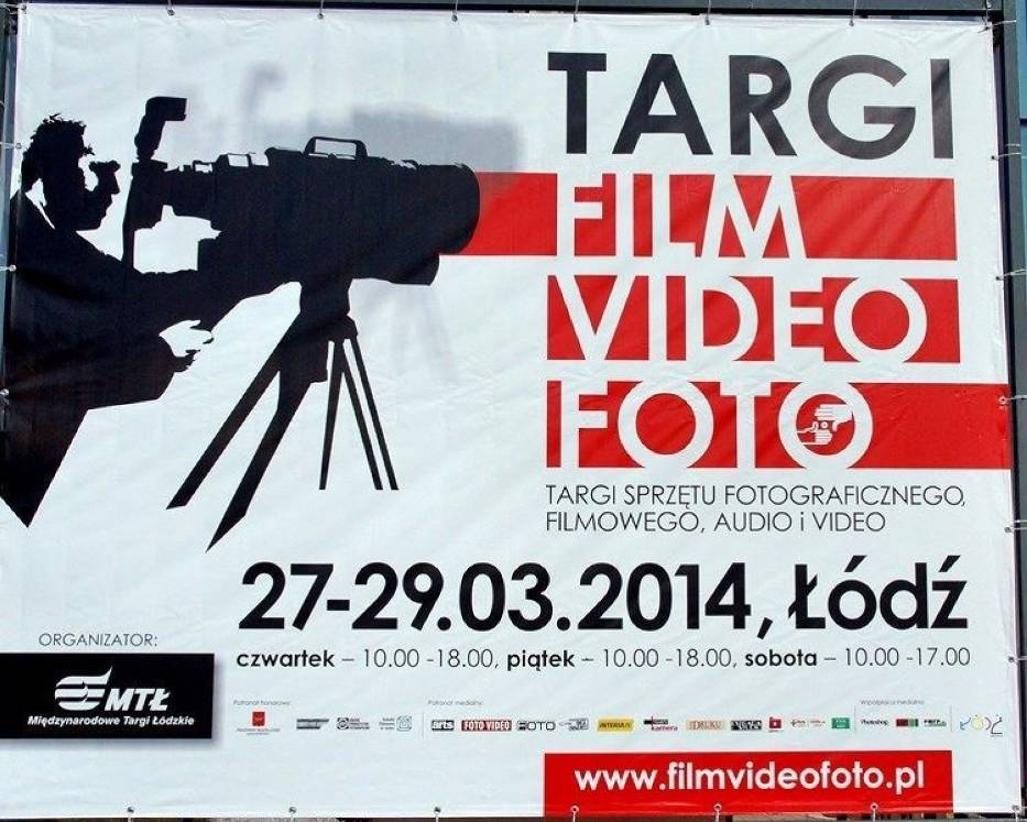 Baner XVII Targów Sprzętu Fotograficznego, Filmowego, Audio i Video FILM VIDEO FOTO