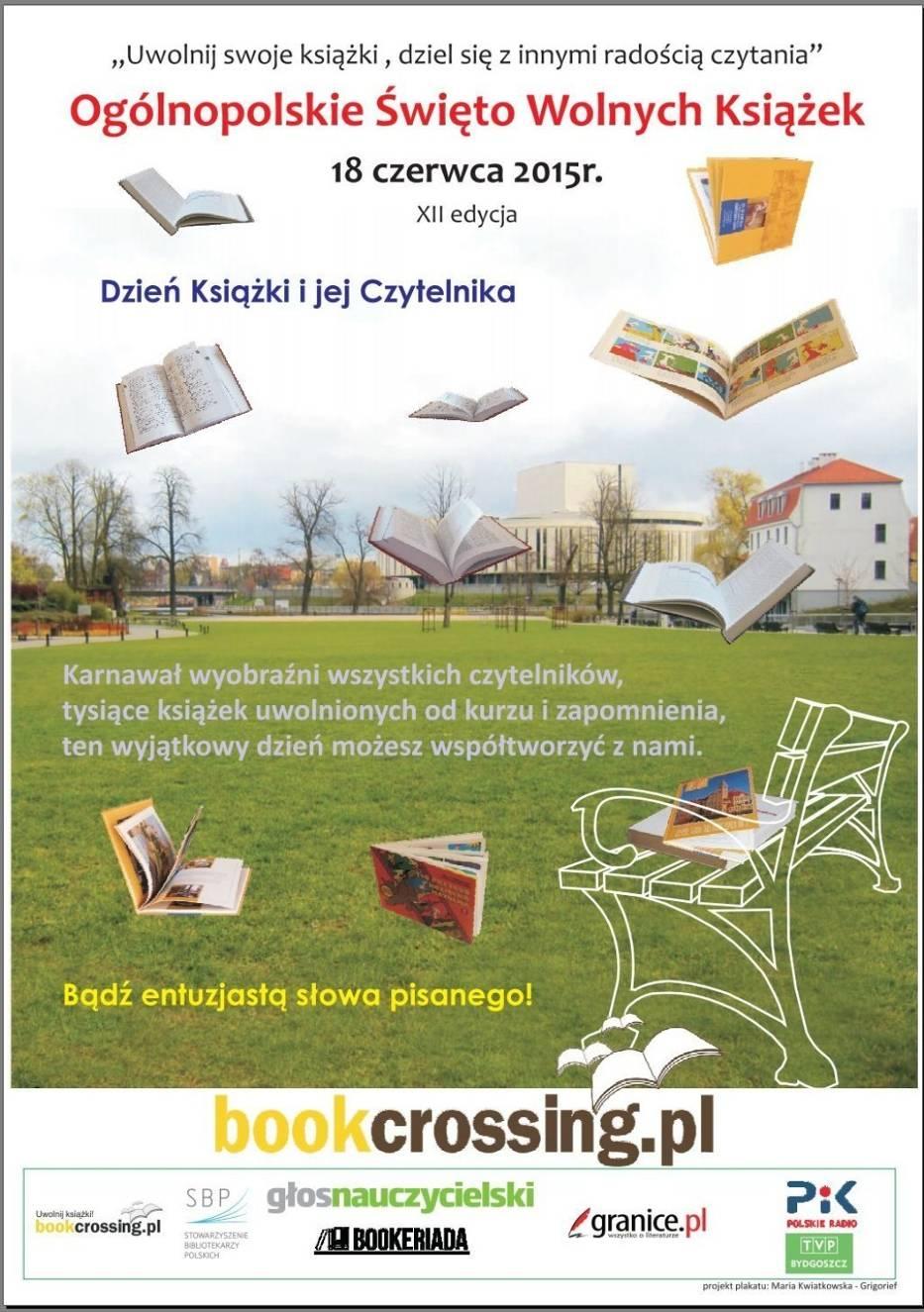 Plakat VI  edycji Ogólnopolskiego Święta Wolnych Książek