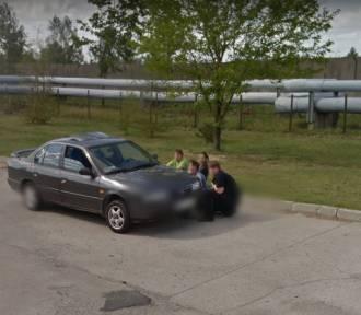 Wodna, Błońska i Ciepłownicza w Wieluniu w obiektywie Google Street View