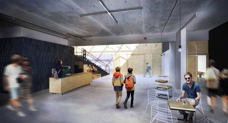 Wizualizacja w środku budynku