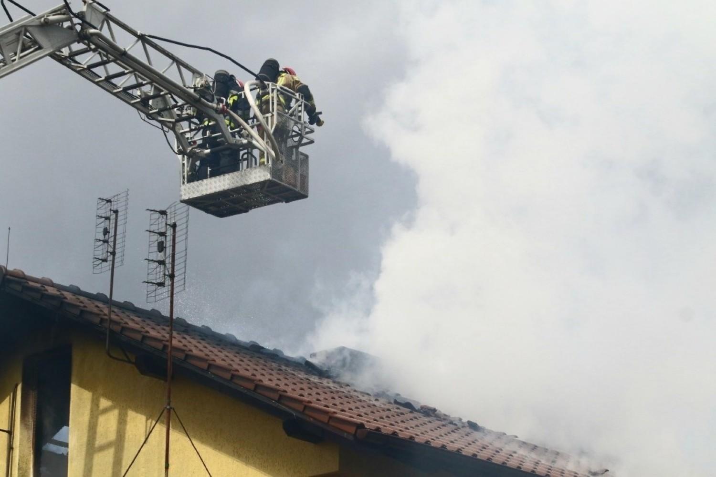Pożar domu na Pawłowicach