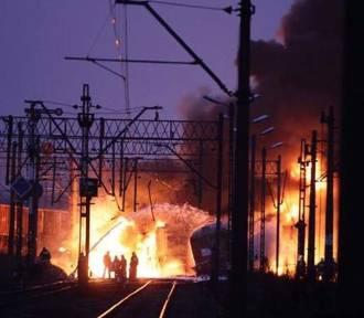 Pożar wagonu w Turznie. Ruch pociągów wstrzymany