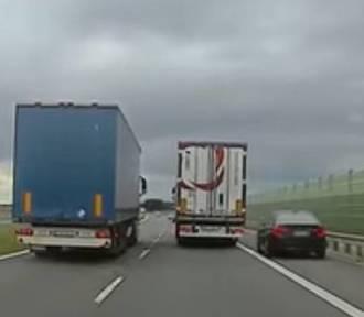 """Szeryf z BMW postanowił """"ukarać"""" kierowcę TIR-a (NAGRANIE)"""