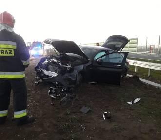 Cedry Mała Kolonia: Wypadek drogowy na nowo otwartej drodze krajowej nr S7 [ZDJĘCIA]