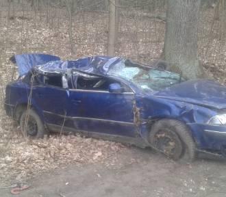 Wypadek w Słupach. Ranne zostały dwie osoby [ZADĘCIA]