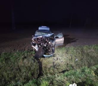 Wypadek pod Pomykowem. Czołowe zderzenie i  ranna 20-latka z powiatu leszczyńskiego
