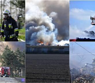 Wielki pożar w powiecie aleksandrowskim. Pali się wysypisko śmieci w Łowiczku