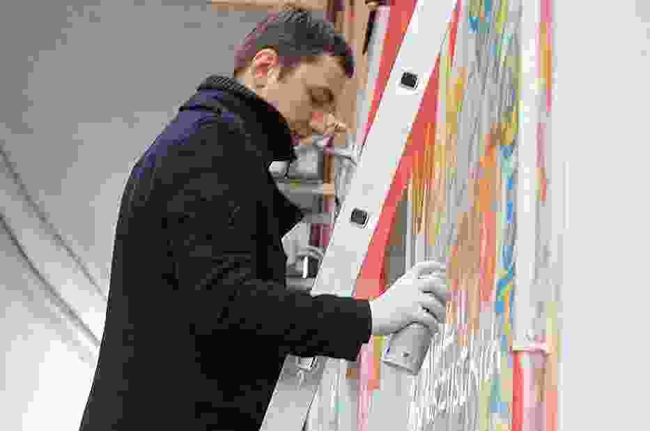 Powstaje mural przy ul. Strażniczej