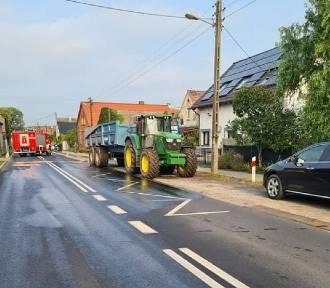 Zamknięty odcinek Sława-Lubogoszcz. Kilkaset litrów paliwa wylało się na drogę