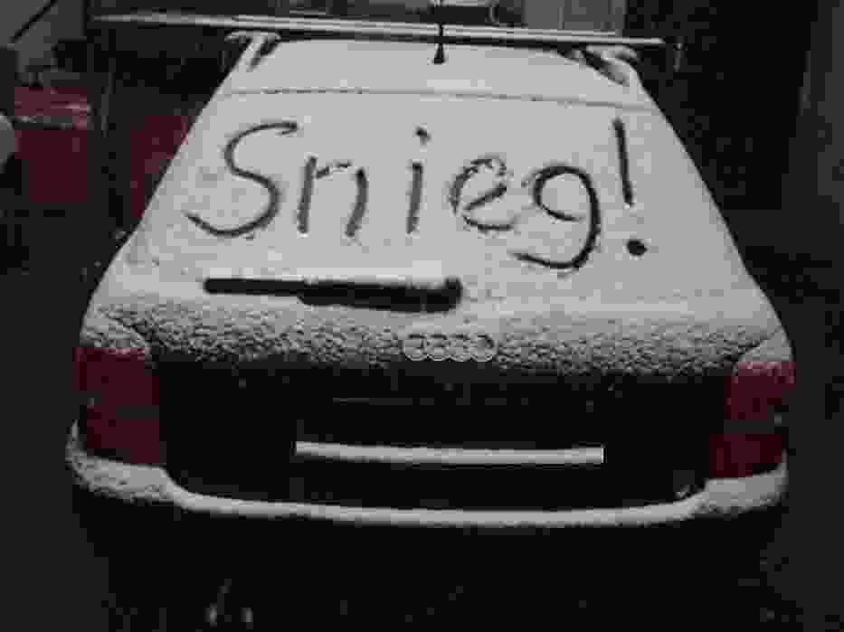 pierwszy jesienny śnieg