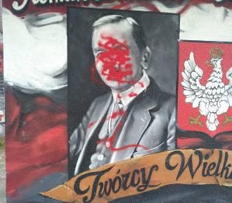 Wandale zniszczyli patriotyczny mural w Kaliszu. Nagroda za wskazanie sprawcy. FOTO