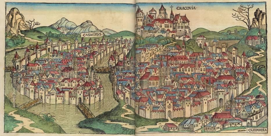 Średniowieczny dwór królewskiW Krakowie do lokacji miasta w 1257 dieta nie ulegała większym modyfikacjom