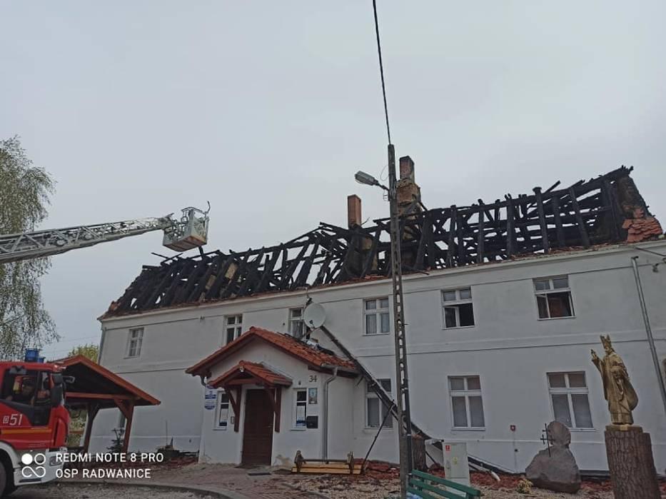 Pożar w Jakubowie między Polkowicami a Głogowem