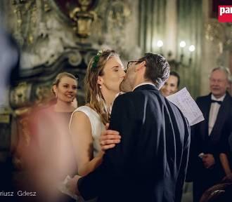 Ślub 100 lecia na zamku Książ [ZOBACZ ZDJĘCIA]