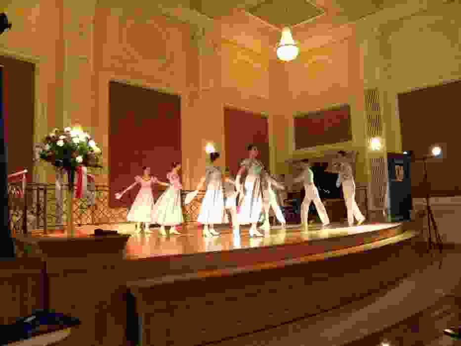 Spotkanie rozpoczęli uczniowie Państwowej Szkoły Baletowej w Bytomiu polonezem Piotra Czajkowskiego