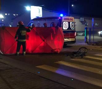 Śmiertelne potrącenie rowerzysty przy ul. Kaliskiej w Sycowie [FOTO]
