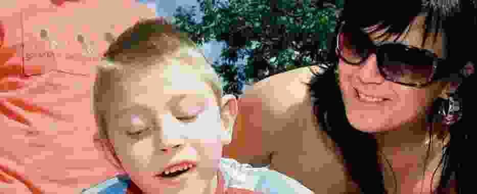 Monika Dobrzańska-Kęs z synkiem, 7-letnim Piotrem