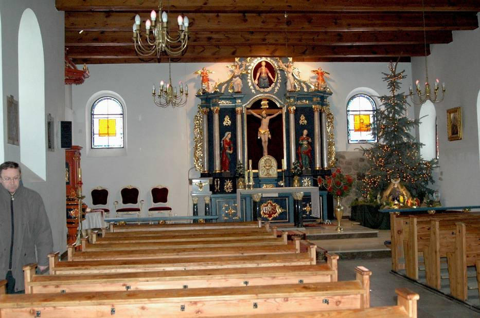 Wnętrze kościoła w Ogorzelinach