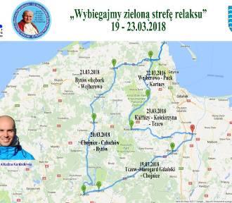 Człuchów, Chojnice. Chrytatywny bieg sztafetowy na ponad 450 km - chcą wybiegać dzieciom zielony