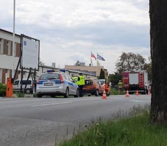 Wypadek na ul. Wojska Polskiego w Pucku: zderzenie dwóch osobówek, jedna osoba ranna