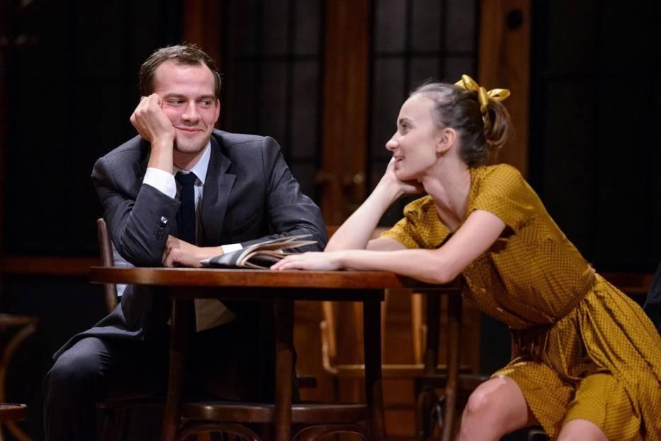 Maciej Babicz (Mooney) i Ewa Jakubowicz (Shirley) w 'Porachunkach z katem'